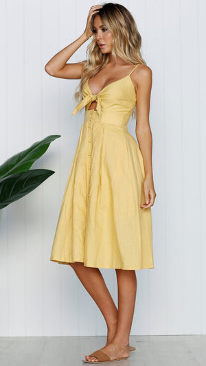 yellow day dress