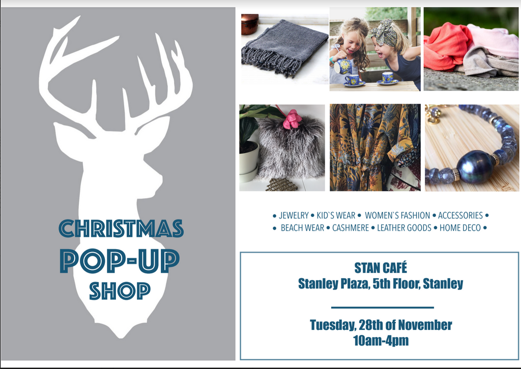 POP-UP Shop in Stanley, November 28th, 10am-4pm