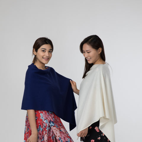 Hong Kong Sweden Poncho Cashmere Classic