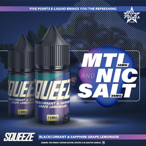 30ml Squeeze Blackcurrant Salt Nic 35mg