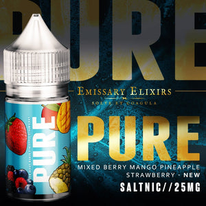 30ml Pure - Mixed berries, Strawberry, Mango & Pineapple Salt Nic