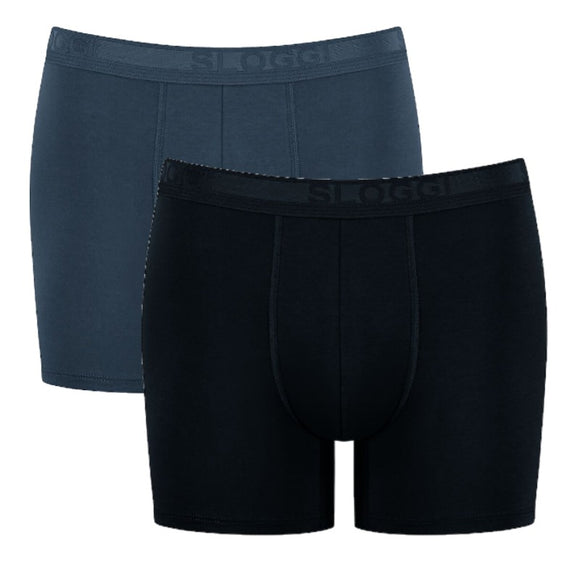 Sloggi - Evernew Short - 2 Pak - Sort/Grå