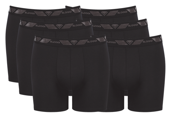 Sloggi - 6 Pak Herre Tights med shirt stop - Sort