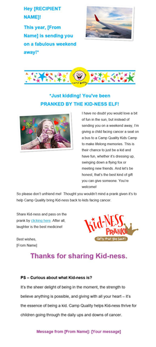 Kid-ness Prank - Weekend Away