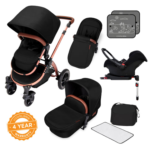 Ickle Bubba Stomp v4 Special Edition All In One Travel System With Isofix Base - Midnight Bronze