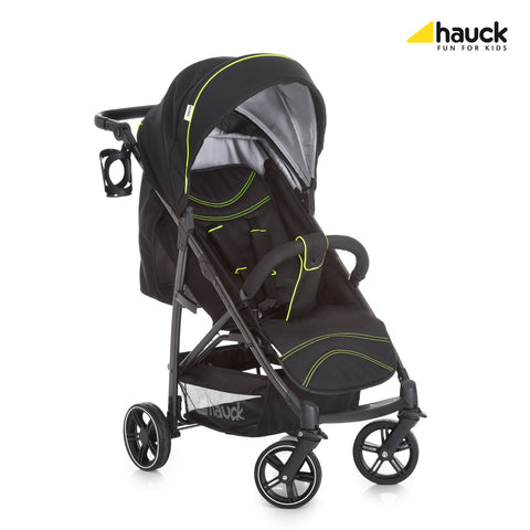 Hauck Rapid 4S Pushchair - Caviar/Neon Yellow