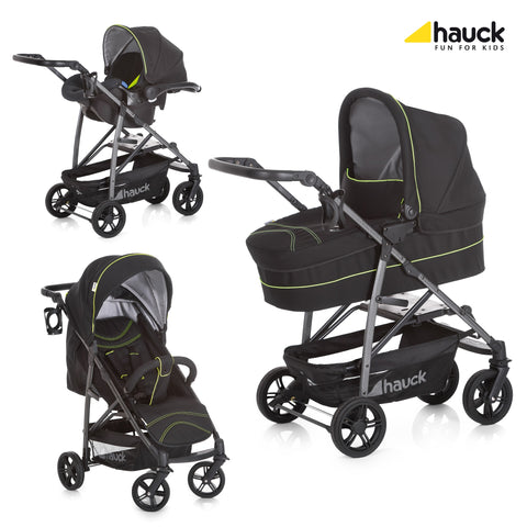 Hauck Rapid 4S Plus Trio Set - Caviar/Neon Yellow