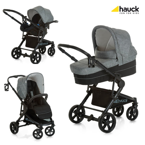 Hauck Atlantic Plus Trio Set - Melange Grey