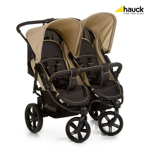 Hauck Roadster Duo SLX Double Pushchair - Caviar/Almond | Twin or Triple | Prestige Prams