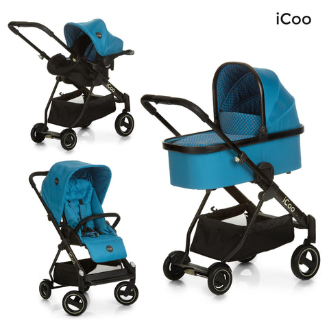 iCoo Acrobat XL Plus Trio Set Diamond Sapphire | Baby Travel System | Prestige Prams