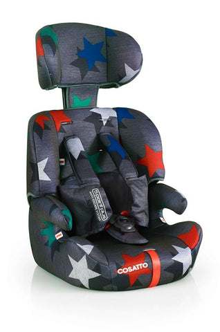 Cosatto Zoomi Group 123 Anti-Escape Car Seat - Grey Megastars | Car Seat | Prestige Prams