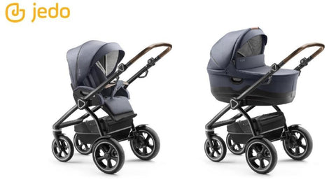 Jedo Trim M-Line 2 in 1 Pushchair - Black Frame - M63 | Pushchair | Prestige Prams