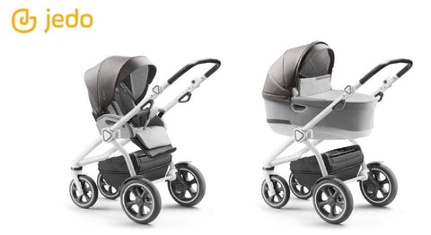 Jedo Trim T-Line 2 in 1 Pushchair - White Frame - T73 | Pushchair | Prestige Prams