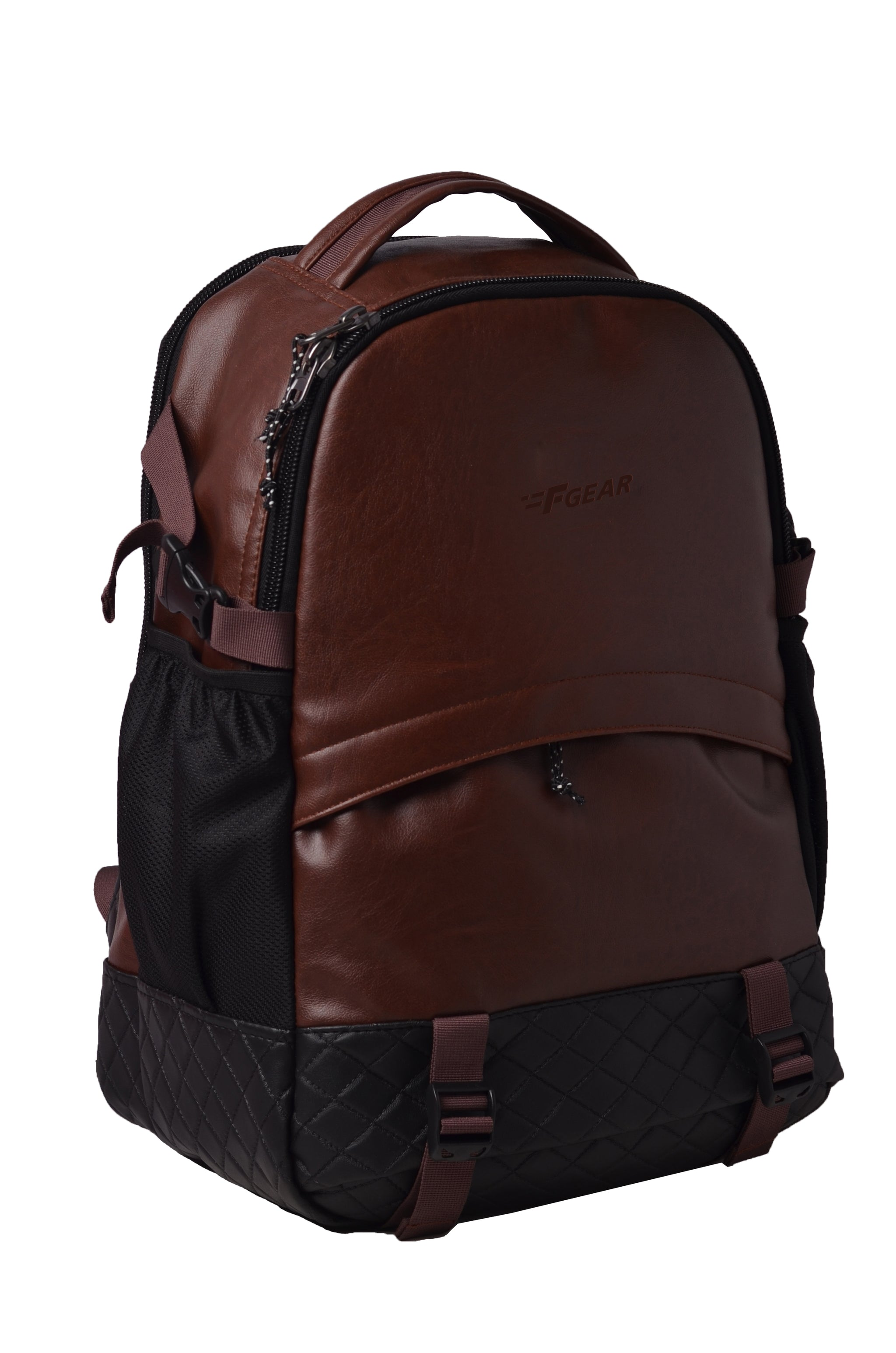 F Gear Sedna 27 Ltrs Brown Artificial Leather Casual Backpack (2599)
