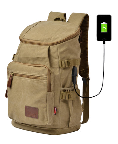 F Gear Intrepid 23 Liters Canvas Backpack (Khaki)