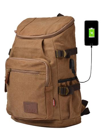 F Gear Intrepid 23 Liters Canvas Backpack (Brown)