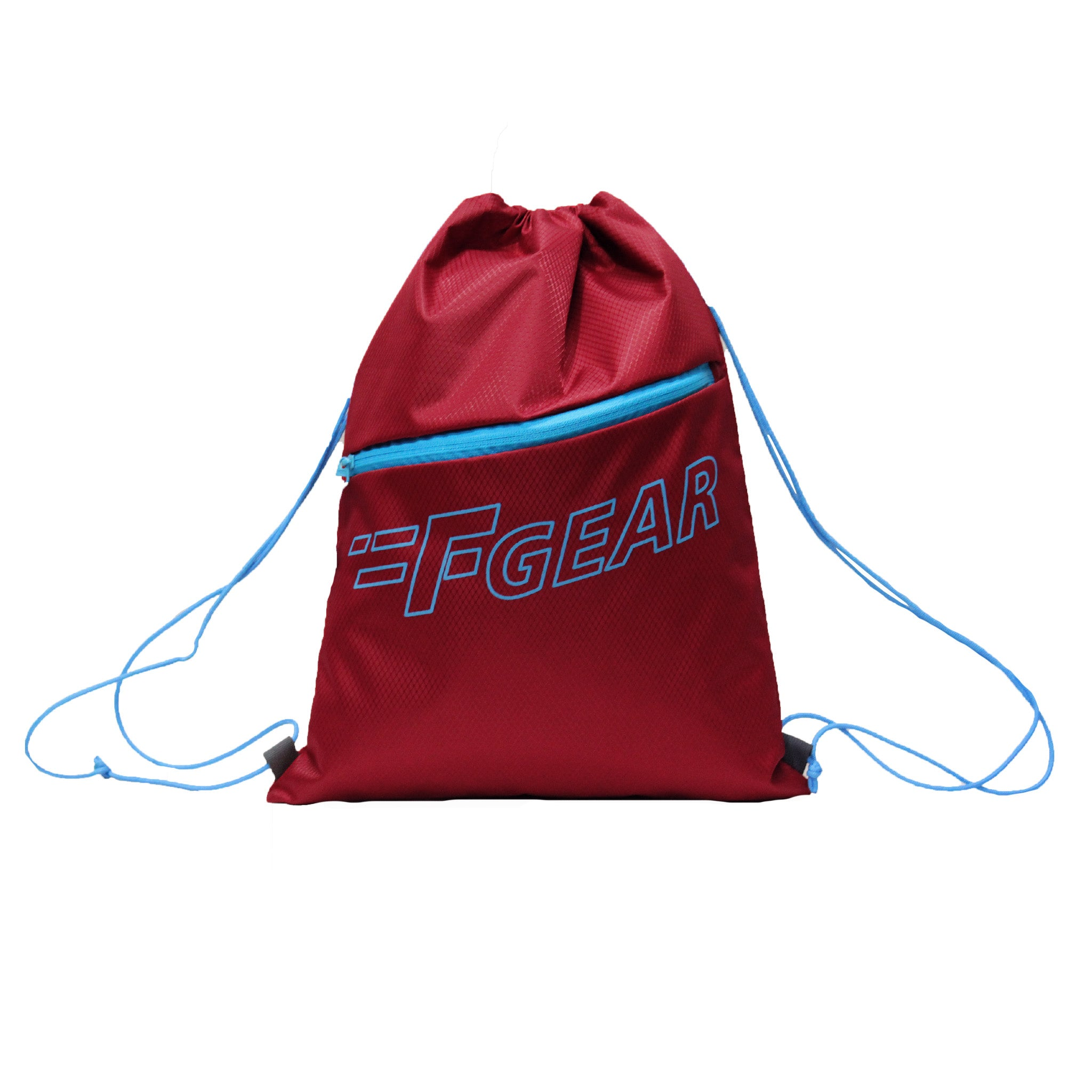 F Gear Euro Red Drawstring Gym Bag (3725)