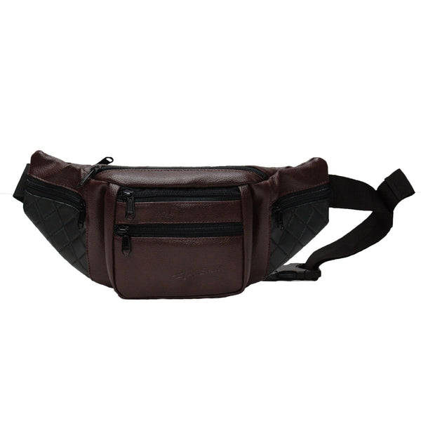 F Gear Czar Art Leather Brown Sports Waist Bag (3678)
