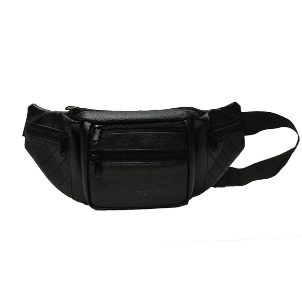 F Gear Czar Art Leather Black Sports Waist Bag (3677)
