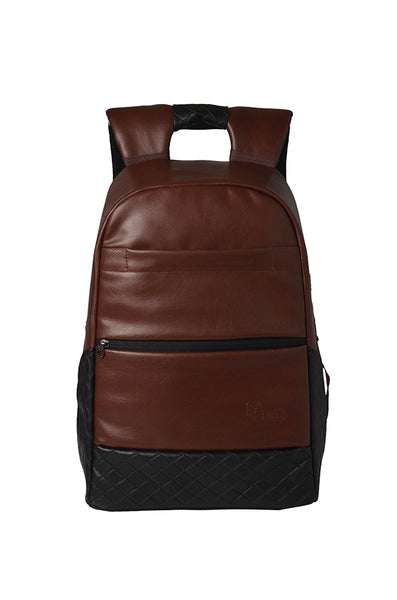 F Gear Latent Anti Theft 25 Liters Laptop Backpack with Rain Cover (Brown)