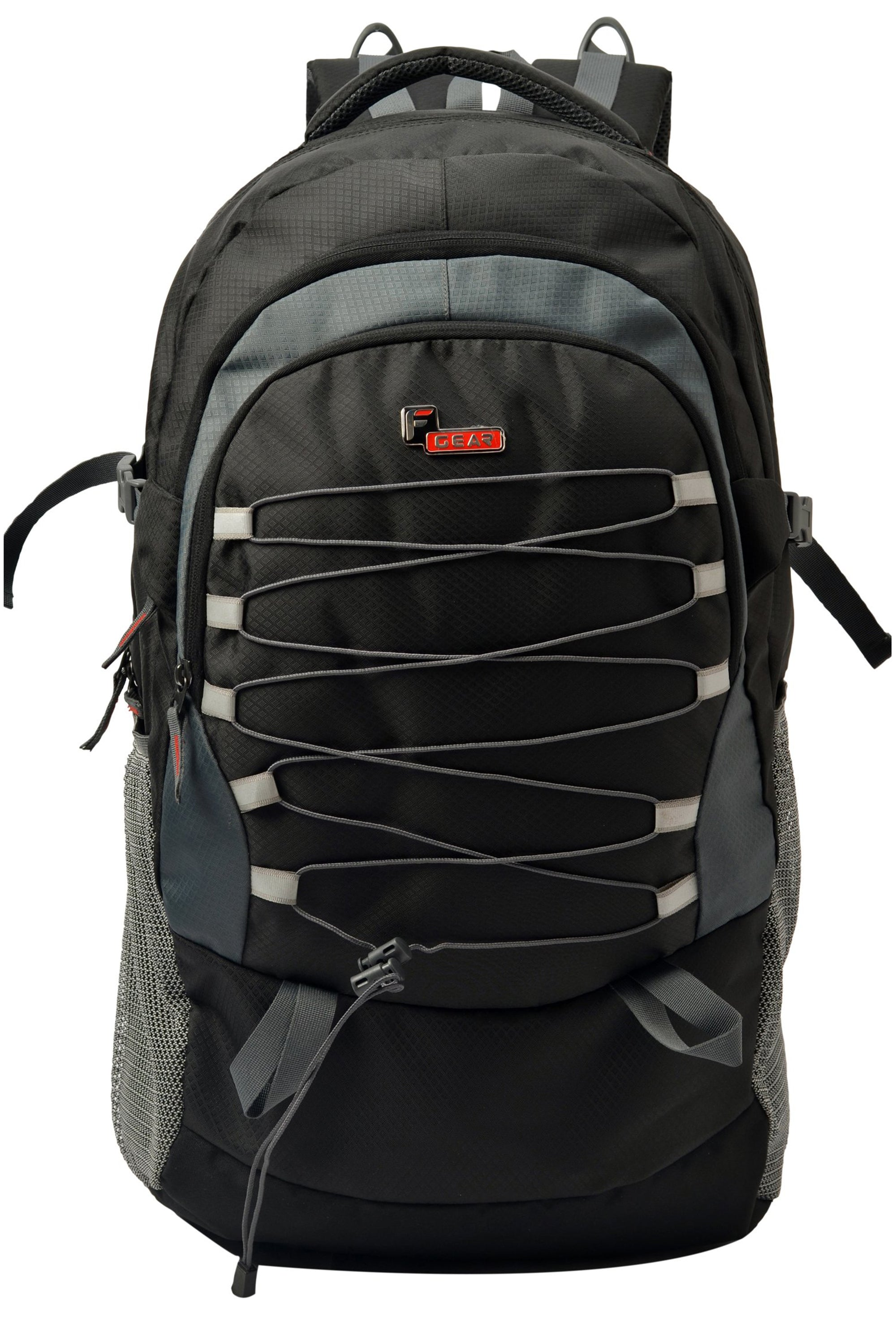 F Gear Elixer 45 liters Rucksack (Black, Grey Diamond)