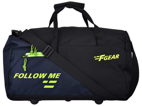 F Gear Apex Polyester 47 cms Green Gym Bag (2984))
