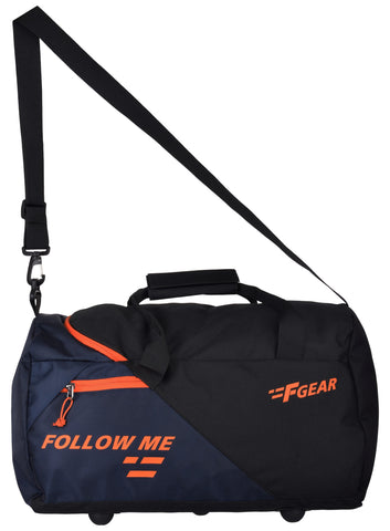 F Gear Apex Polyester 47 cms Orange Gym Bag (2973)