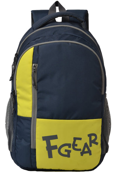 F Gear Switcher 25 liters Backpack (Navy Blue, Lime)