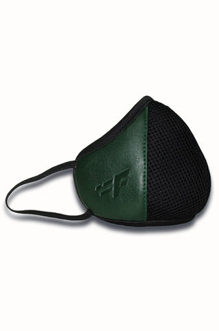 F Gear Luxur F95 Leatherette Mask Olive Safeguard 7 layer ISO CE SITRA lab certified >95% Bacteria Filtration