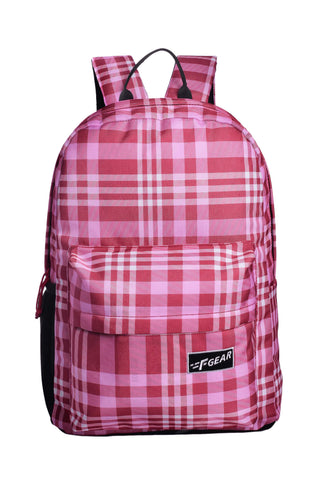 F Gear 23 Ltrs Emprise Checks Red Casual Backpack (3368)