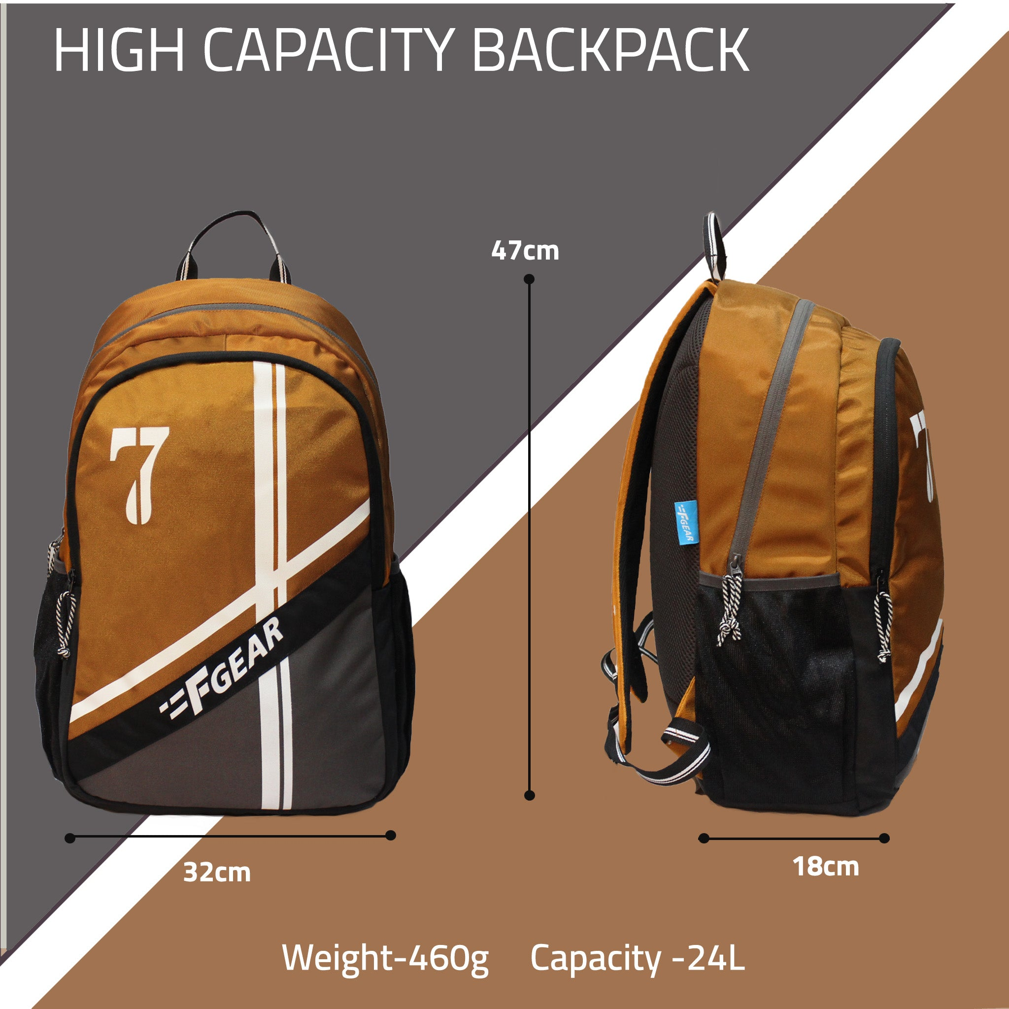 F Gear Shigo Cathy Pavement 24 Ltrs Backpack (3657)