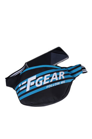 F Gear Enzo Black Blue Adjustable Strap Fanny Pack (3314)