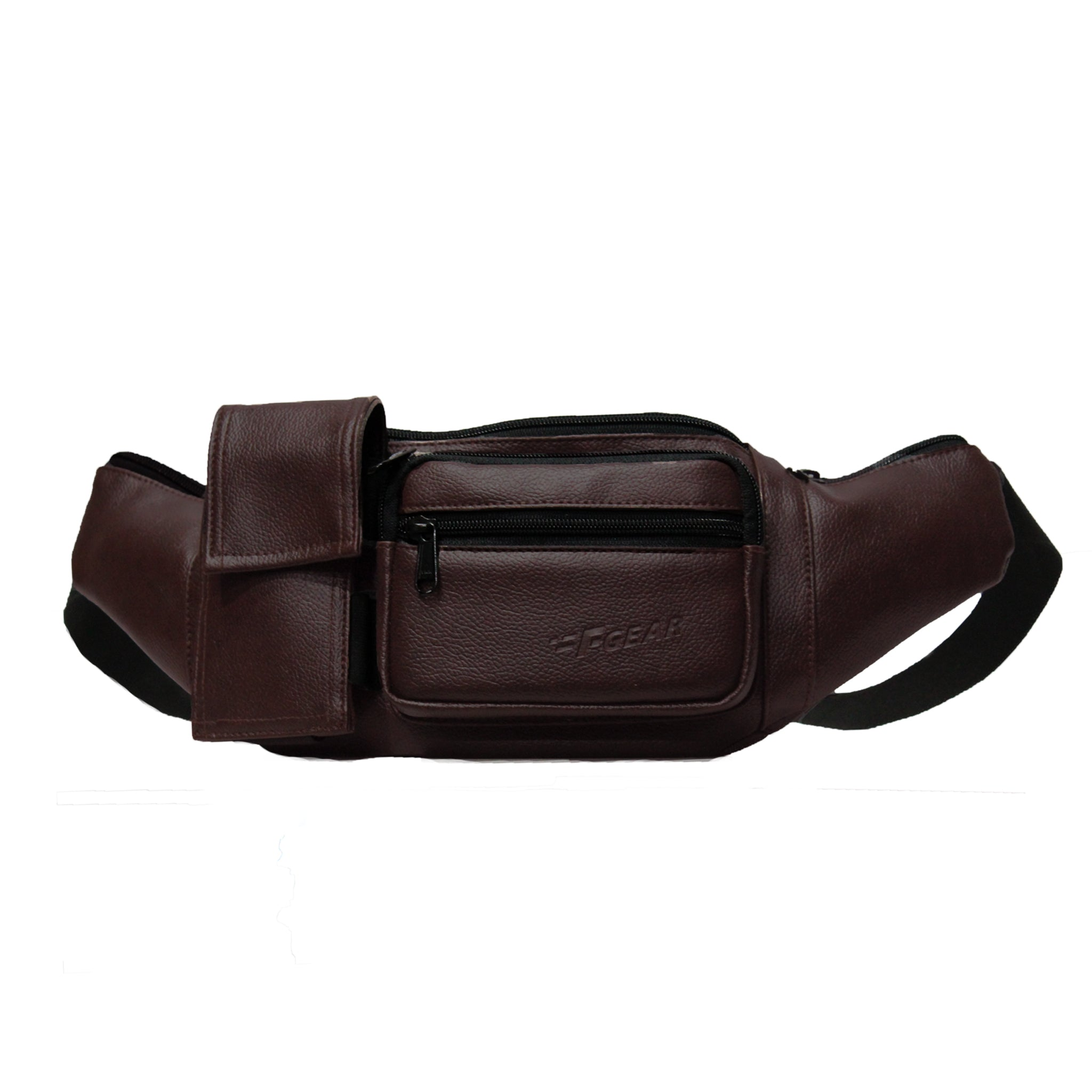 F Gear Potent Art Leather Brown Sports Waist Bag (3680)