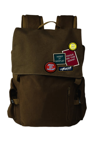 F Gear Milestone Casual 20 Liters Canvas Backpack (Olive)