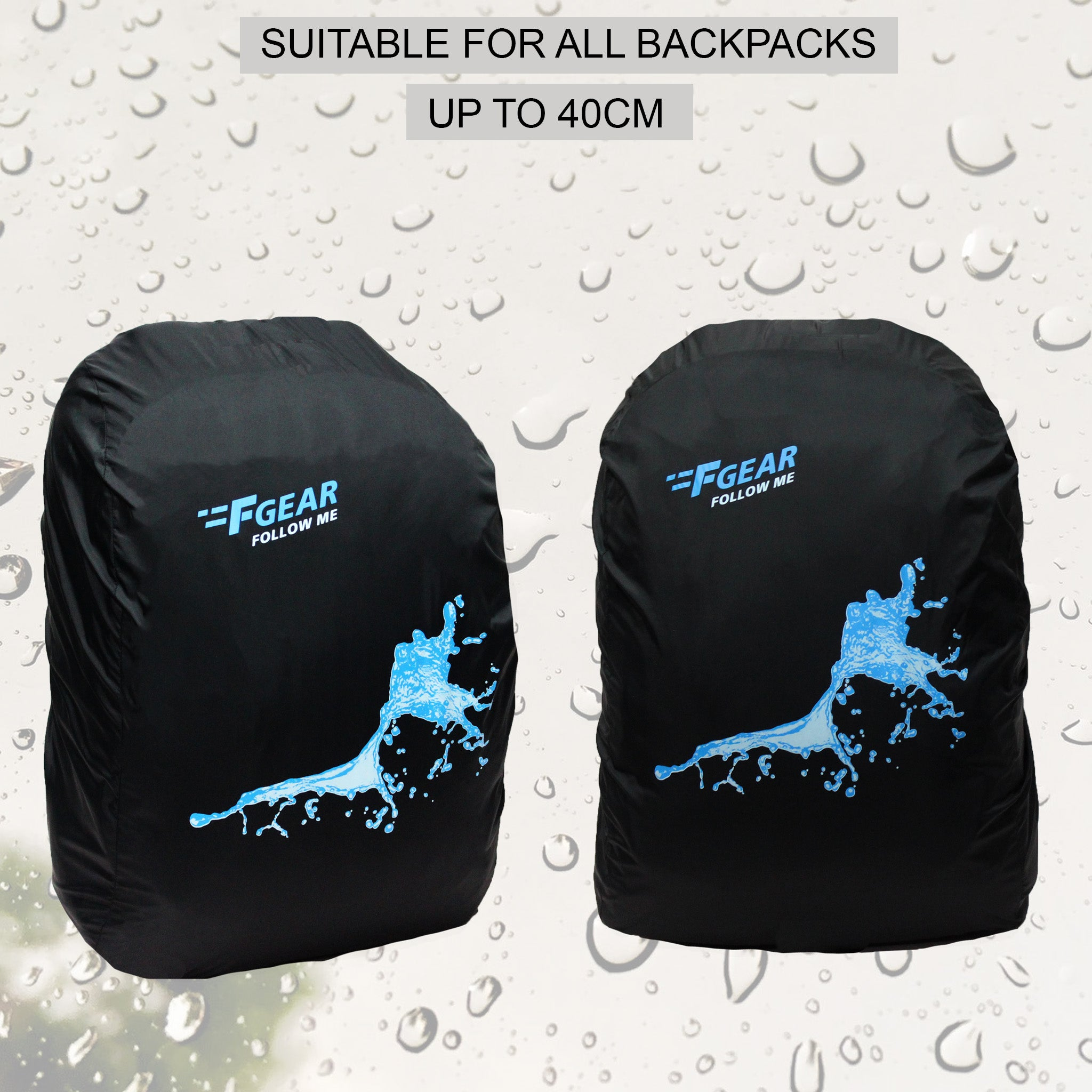 F Gear Cascade Small Backpack Rain Cover (3742)