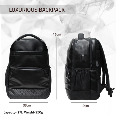 F Gear Luxur V2 Black 27 Ltrs Laptop Backpack (3702)