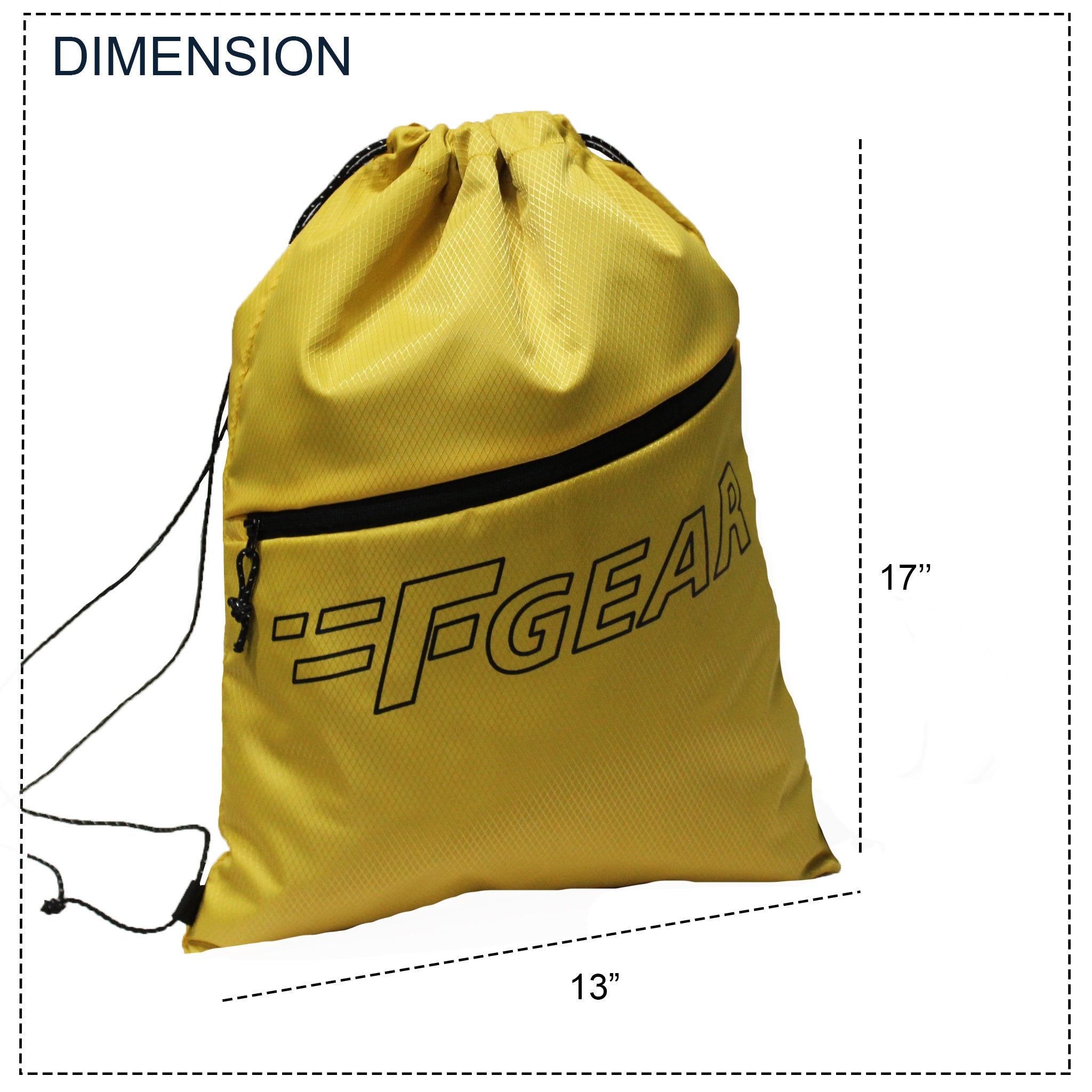 F Gear Euro Yellow Drawstring Gym Bag (3722)