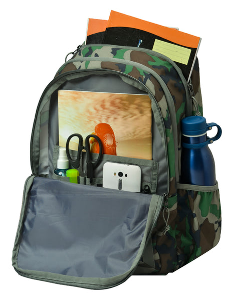 F Gear Raider 30 Liter Backpack with Rain Cover (Woodland A Camo)