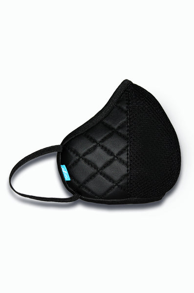 F Gear Luxur F95 Leatherette Mask Diamond Black Safeguard 7 layer ISO CE SITRA lab certified >95% Bacteria Filtration