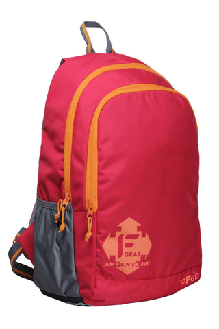 F Gear Castle Rugged Base 24 Liters Red Orange Backpack