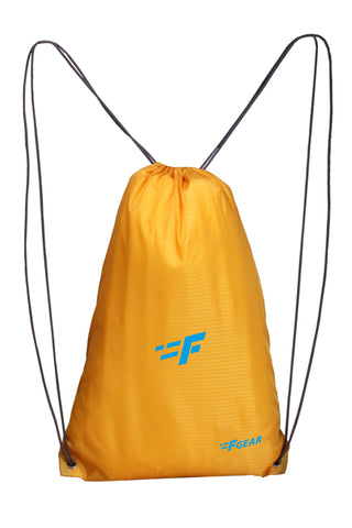 F Gear String 11 Ltrs Nylon Yellow Gym Bag