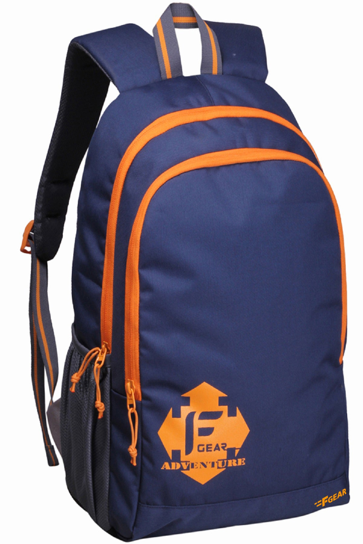 F Gear Castle 22 Ltrs Navyblue Orange Casual Backpack (2181)