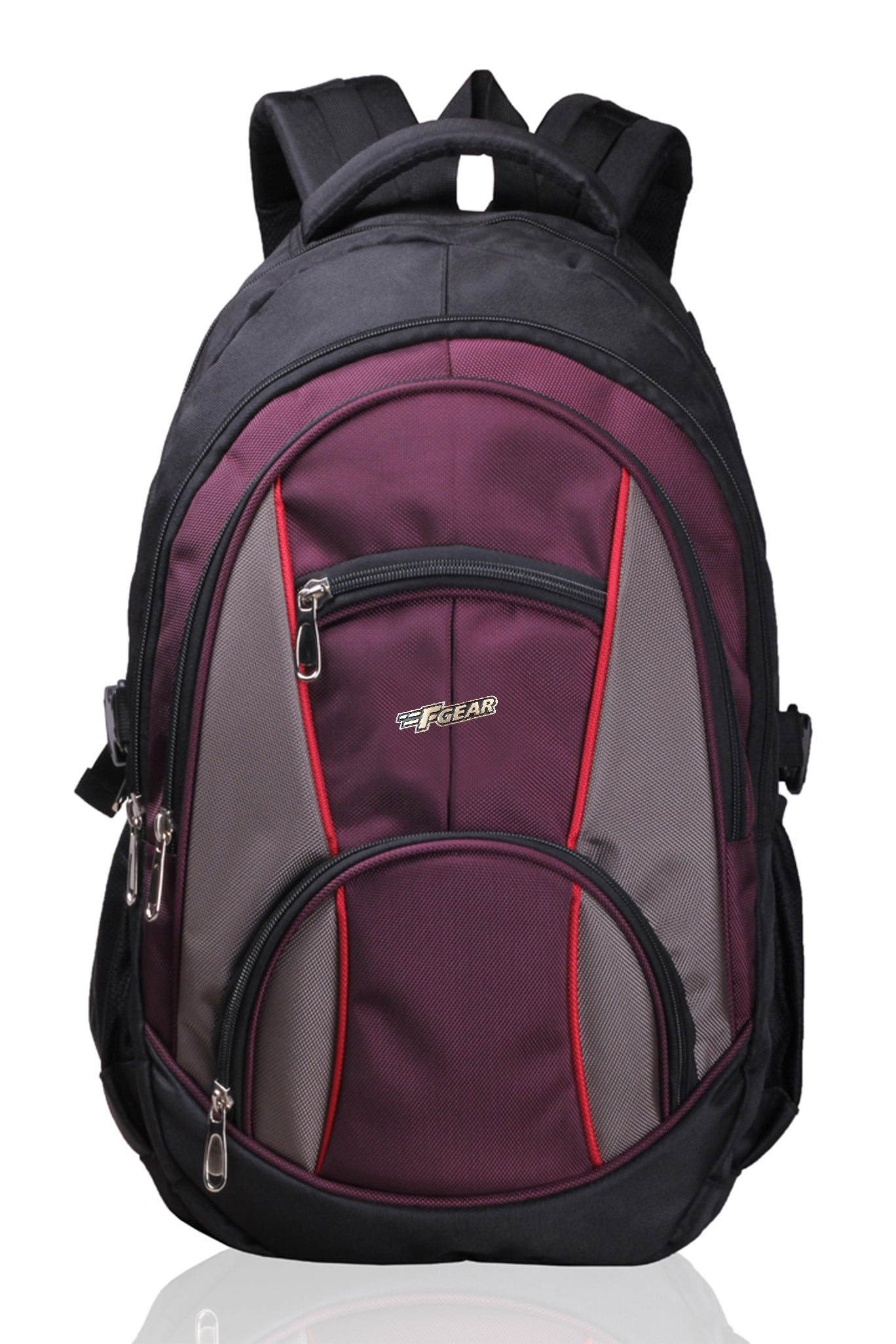 F Gear Midus 29 Ltrs Backpack (Black, Wine)