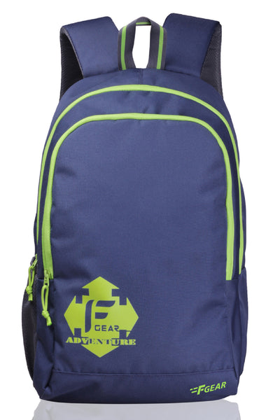 F Gear Castle Rugged Base 20 liters Navy Blue, Green College Laptop Backpack