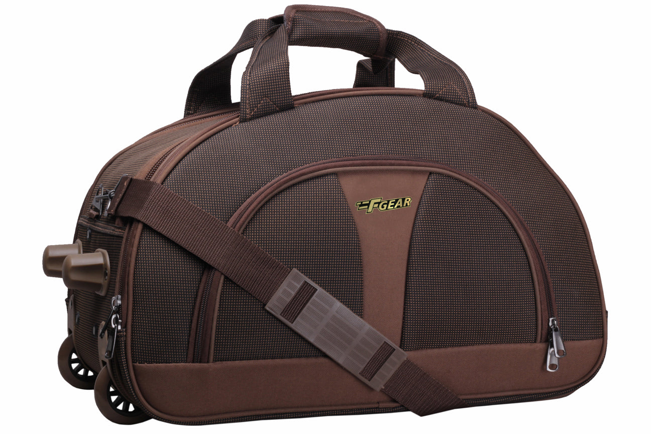 "F Gear Cooter 20"" Polyester 46 Ltrs Brown Travel Duffle (2388)"