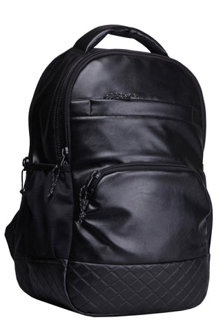 F Gear LuXur 25 Ltrs Black Artificial Leather Laptop Backpack
