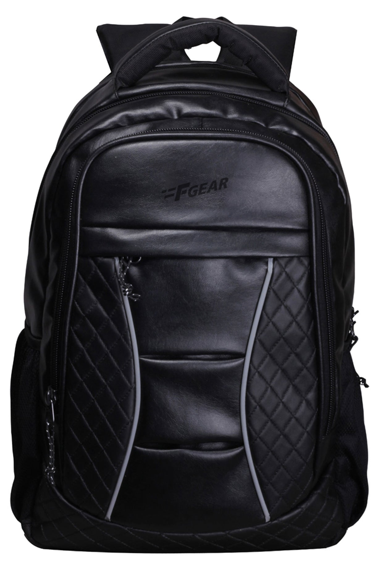 F Gear President 32 Ltrs Black Artificial Leather Laptop Backpack