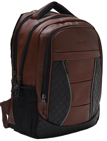 F Gear President 32 Ltrs Brown Artificial Leather Laptop Backpack (2550)