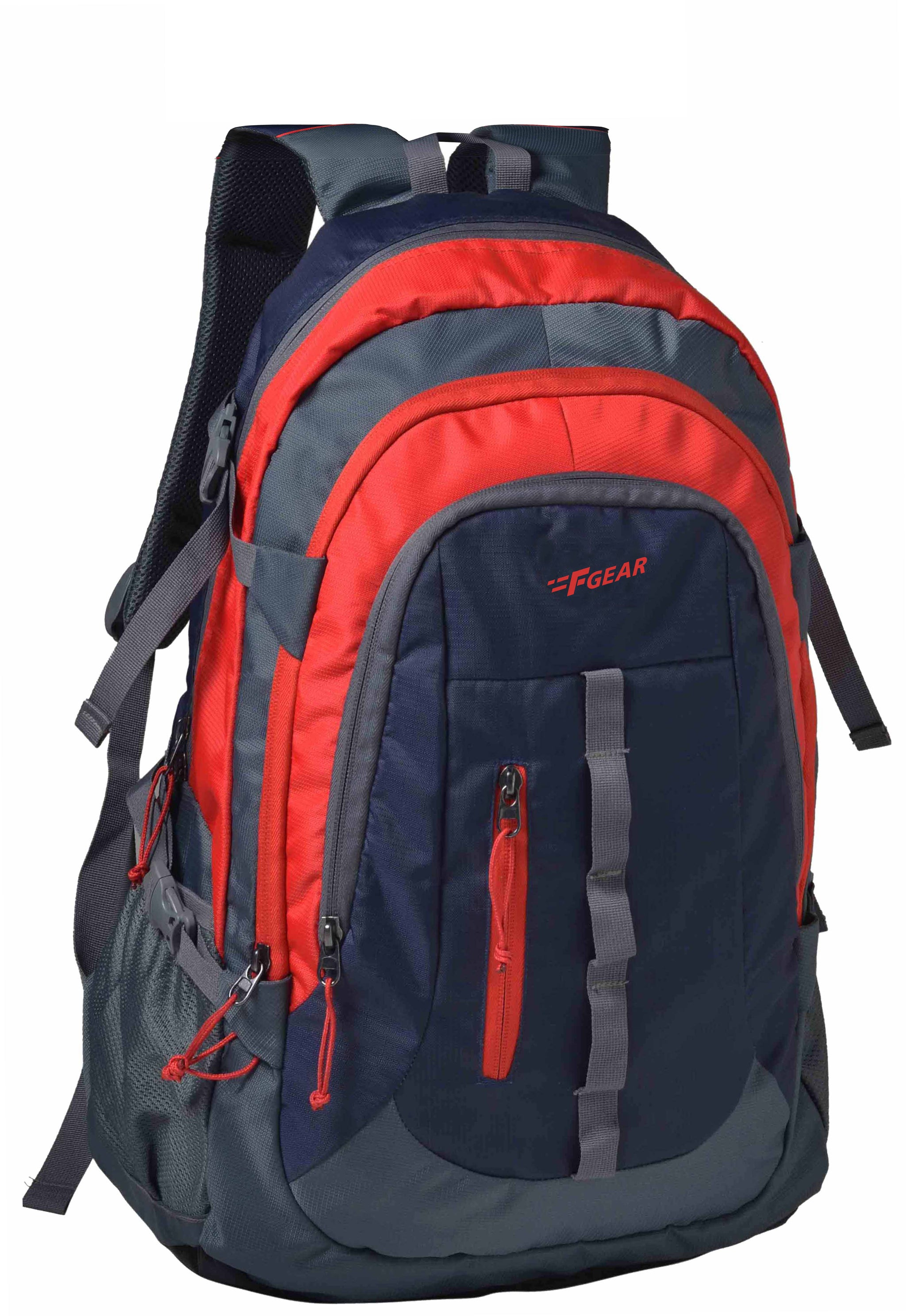 F Gear Defender V2 41 Liters Rucksack (Navy Blue, Red)