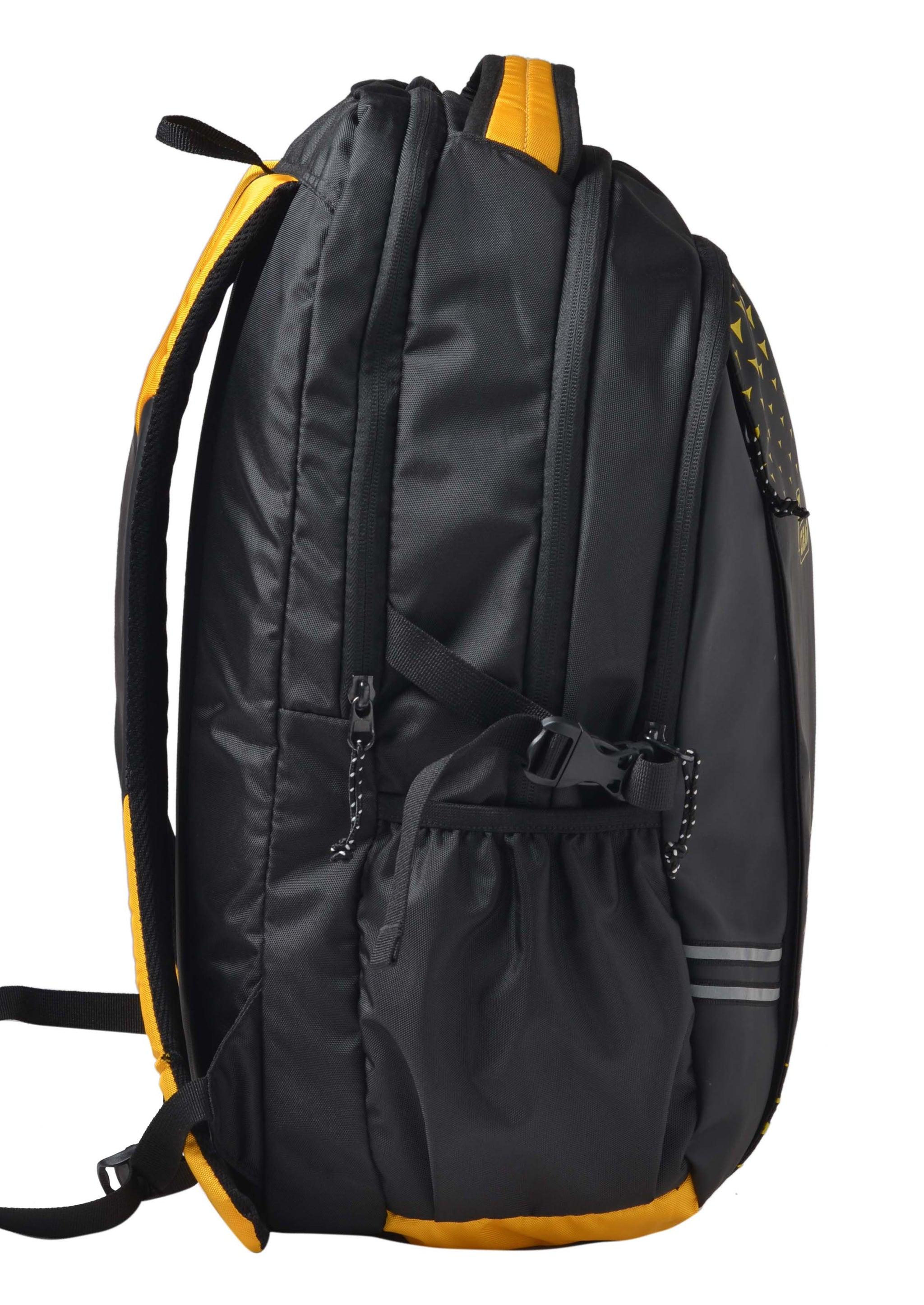 F Gear Lone Wolf 34 Liters Yellow Trekking Laptop Backpack With Rain Cover (2619)